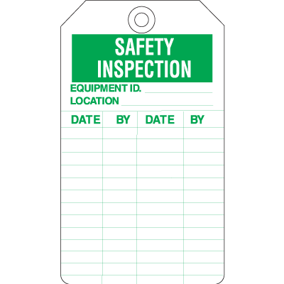 Inspection Tags - Safety Inspection