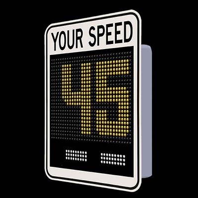 SafePace® EV15SD Radar Feedback Sign