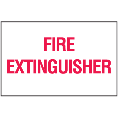 Fire Extinguisher Sign - Polished Plastic Signs