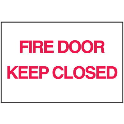 Fire Door Keep Closed Sign - Polished Plastic Sign