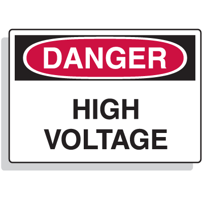 Extra Large OSHA Signs - Danger - High Voltage