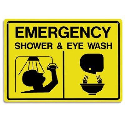 """Emergency Shower & Eye Wash Signs - 14""""W X 10""""H"""