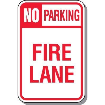Fire Lane Signs - Fire Lane No Parking