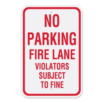 Fire Lane Signs - No Parking Fire Lane Violators