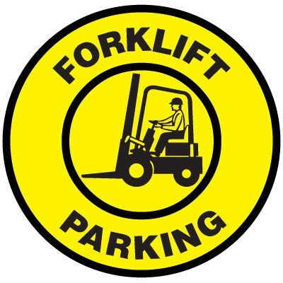 Floor Signs - Forklift Parking