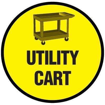 Floor Signs - Utility Cart