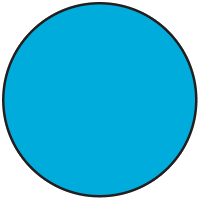 Fluorescent Blue Dot Labels