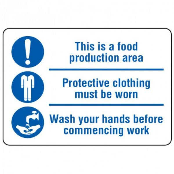 Food Industry Safety Signs - This Is A Food Production Area