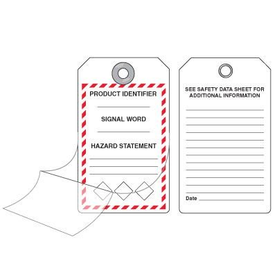 GHS Self-Laminating Tags - Product Identifier