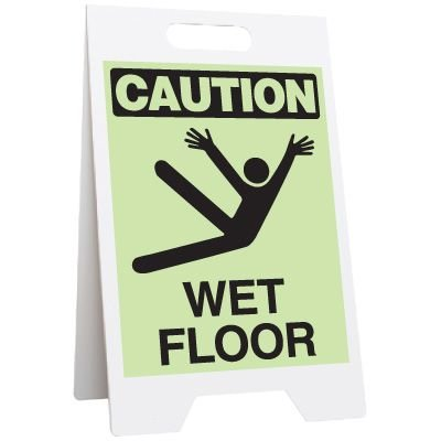 Glow Floor Stands - Caution Wet Floor