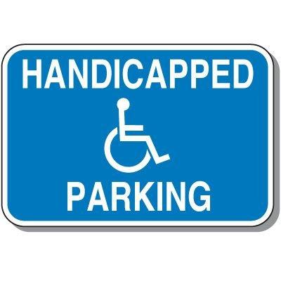 Handicap Signs - Handicapped Parking (Horizontal)