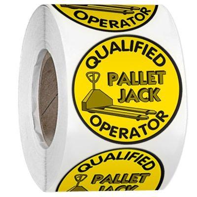 Hard Hat Safety Labels On A Roll - Qualified Pallet Jack