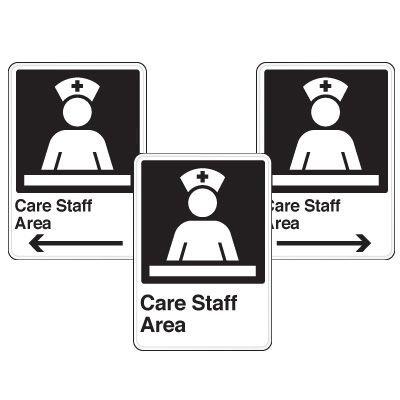 Health Care Facility Wayfinding Signs - Care Staff Area