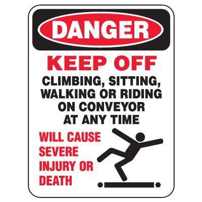 Heavy Duty Conveyor Signs - Danger Keep Off