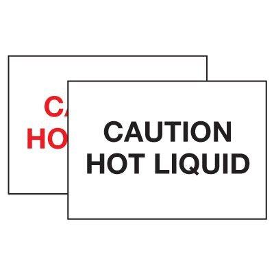 Hot Adhesion Labels - Caution Hot Liquid