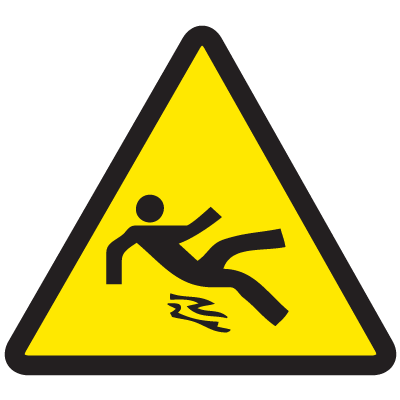International Symbols Labels - Slippery Surface