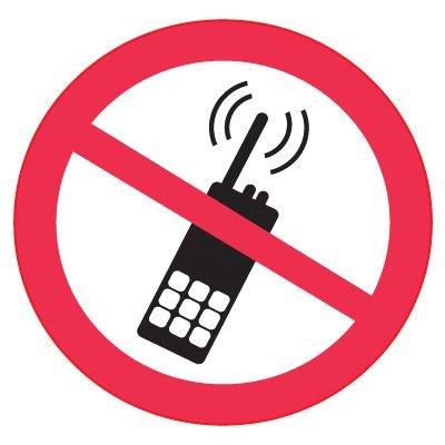 International Symbols Labels - No Portable Transmitters