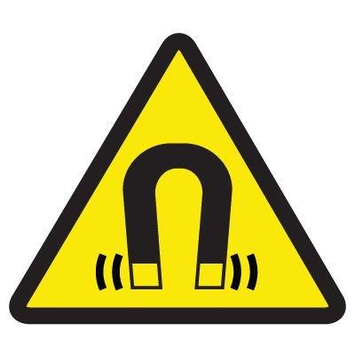 International Symbols Labels - Strong Magnetic Field Hazard