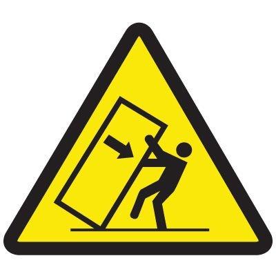 International Symbols Labels - Tipping Hazard