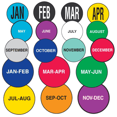 All Months Of the Year Stickers