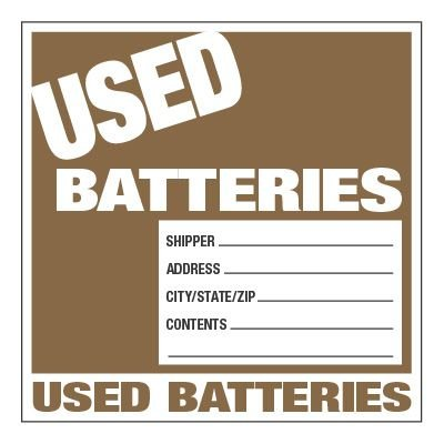 Lithium Battery Labels - Used Batteries