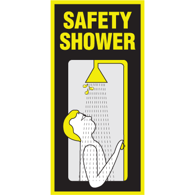 Luminous Safety Shower Signs