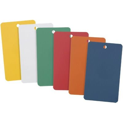 Colored Metal Write-On Tags