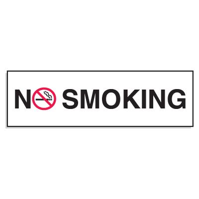 """Mini No Smoking Signs - 3""""W x 10""""H No Smoking (w/Graphic)"""