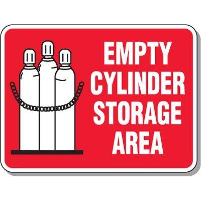 Cylinder Mining Signs - Empty Cylinder Storage Area