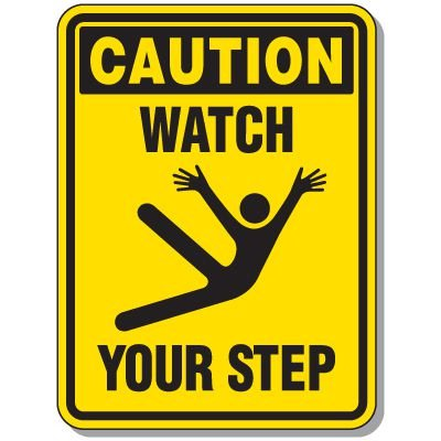 Slipping & Tripping Signs - Caution Watch Your Step
