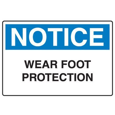Protective Wear Signs - Wear Foot Protection