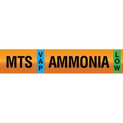 Opti-Code™ Ammonia Pipe Markers - Medium Temperature Suction