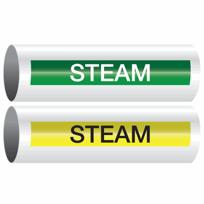 Opti-Code™ Self-Adhesive Pipe Markers - Steam