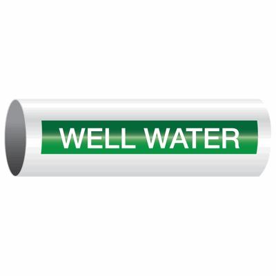 Opti-Code™ Self-Adhesive Pipe Markers - Well Water