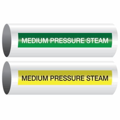 Opti-Code™ Self-Adhesive Pipe Markers - Medium Pressure Steam