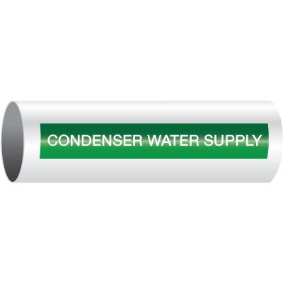 Opti-Code™ Self-Adhesive Pipe Markers - Condenser Water Supply