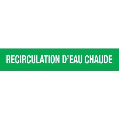 Opti-Code™ Pipe Markers - Recirculation D'eau Chaude