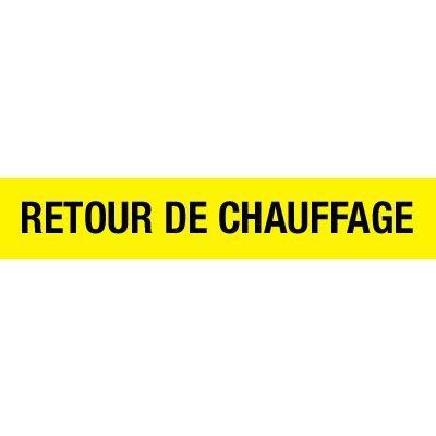 Opti-Code™ Pipe Markers - Retour De Chauffage