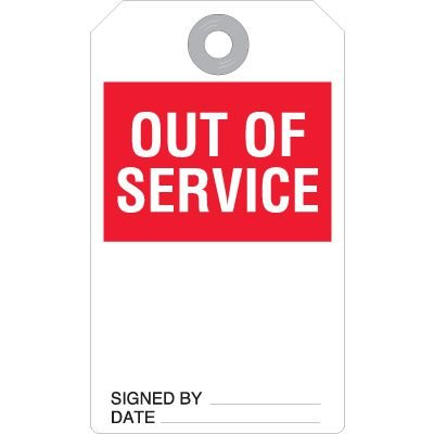 Out Of Service Equipment Status Tag