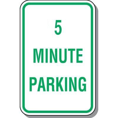 Parking Signs - 5 Minute Parking