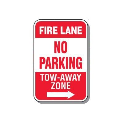 No Parking Signs - Fire Lane Tow-Away Zone