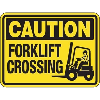 Pavement Message Signs - Caution Forklift Crossing