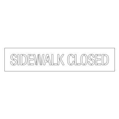Plastic Stencils - Sidewalk Closed