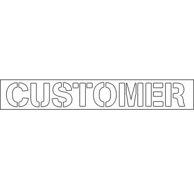 Plastic Word Stencils - Customer