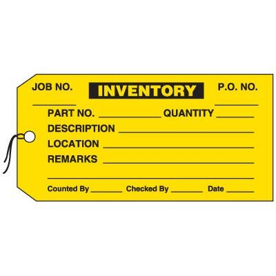 Production Control Tags - Inventory