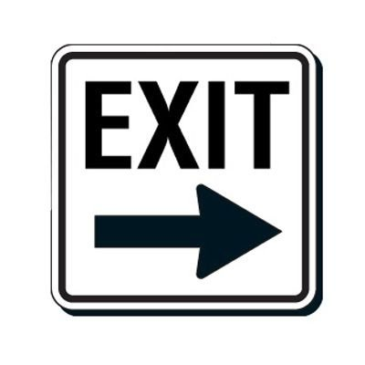 Reflective Parking Lot Signs - Exit (Right Arrow)