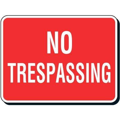 Reflective Parking Lot Signs - No Trespassing