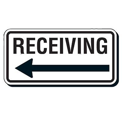 Reflective Parking Lot Signs - Receiving (Left Arrow)