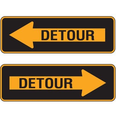 Reflective Traffic Signs - Detour Arrow