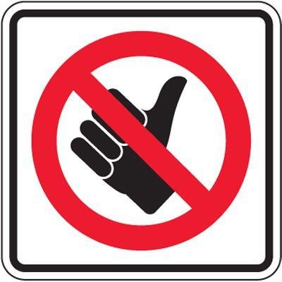 Reflective Traffic Signs - No Hitchhiking (Symbol)